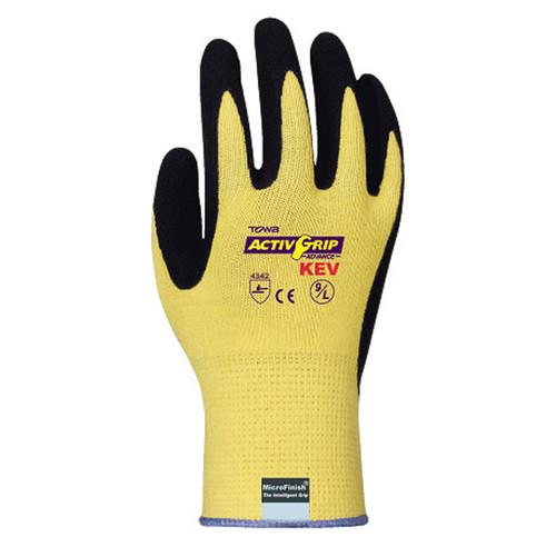 Cordova TOWA® ActivGrip™ Kevlar® Nitrile Coated Gloves, 13-Gauge, Cut Level 2, Yellow (Dozen)