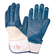 BRAWLER Supported Nitrile Gloves, Rough Palm Coated, Jersey Lined, Safety Cuff, Sanitized®