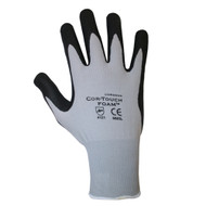 Cordova COR-TOUCH FOAM™ Nitrile Coated Machine Knit Gloves, 13-Gauge, Black/Gray, Microfoam Coating (Dozen)