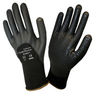 Cordova COR-TOUCH XTRA™ Nitrile Coated Machine Knit Gloves, 13-Gauge, 3/4 Coating, Black Nitrile Dots (Dozen)