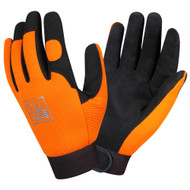 PIT PRO™ Leather Mechanics Gloves, Orange/Black