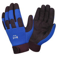 PIT PRO™ Leather Mechanics Gloves, Blue