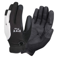 PIT PRO™ Leather Palm Mechanics Gloves, Black/White