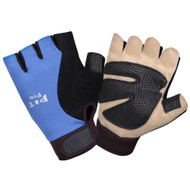 PIT PRO™ Half Fingered Mechanics Gloves, Black/Blue