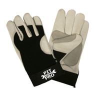 PIT PRO™ Goatskin Mechanics Gloves, Black