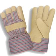 Cordova Grain Pigskin Leather Gloves, Thinsulate® Lined, Gunn Cut, Rubberized Safety Cuff (Dozen)