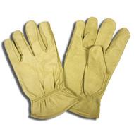 Cordova Economy Pigskin Leather Drivers Gloves, Unlined, Elastic Back, Keystone Thumb (Dozen)