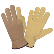 Cordova Select Pigskin Leather Drivers Gloves, Unlined, Elastic Back, Keystone Thumb (Dozen)