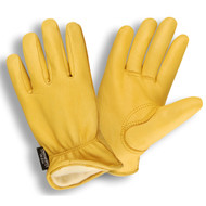 Cordova Premium Deerskin Leather Drivers Gloves, Thinsulate® Lined, Elastic Back, Keystone Thumb (Dozen)