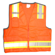Cordova Class II Surveyors Vest, Two Tone-Trim/Reflective Stripes