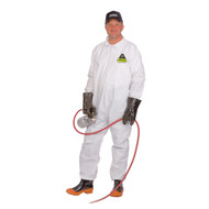 Cordova DEFENDER™ White Microporous Coverall, No Elastic