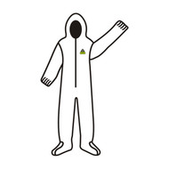 Cordova DEFENDER™ White Microporous Coverall w/Hood & Boots
