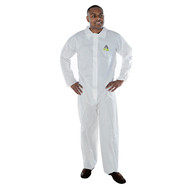 DEFENDER II White Microporous Coverall, No Elastic (Case of 25) (MP100)