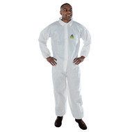 DEFENDER II White Microporous Coverall (Case of 25)