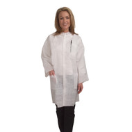Cordova Heavy Weight White Polypropylene Labcoat, Elastic Cuffs