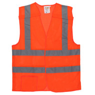 Class II 5-Point Breakaway Mesh Vest, Orange