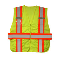 Class II Expandable Mesh Vest, Lime