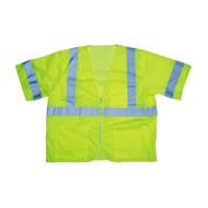 COR-BRITE™ CLASS III Mesh Vest, 2-Inch Reflective Tape, Lime