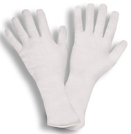 100% Cotton Inspection Gloves, Unhemmed, 14-Inch ( 4 Dozen)