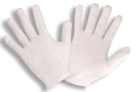 Cotton Lisle Inspection Gloves, Hemmed Cuff  (4 Dozen)