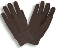 Heavyweight Brown Cotton Jersey Gloves,  (3 Dozen)