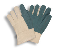 Heavyweight Hot Mill Gloves, Green, Band Top (Dozen)