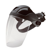 E12 Black Ratchet Headgear with Clear PC Shield (Each)