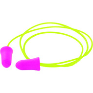 Disposable Pink Corded Earplugs (Box of 100)