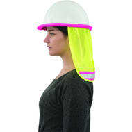 3-Pack A735 Hi Viz Mesh Neck Shield, Lime with Pink Trim