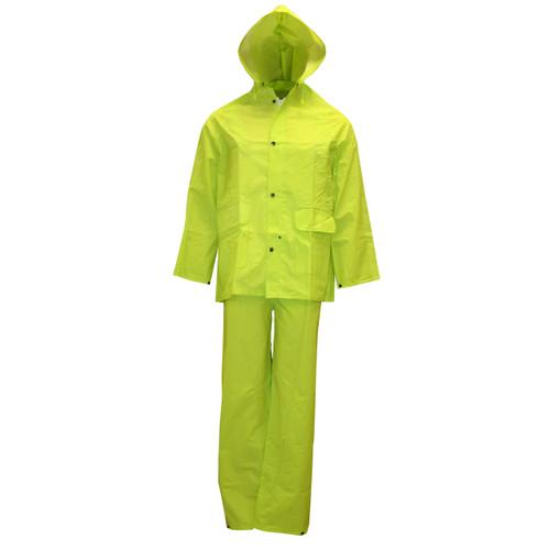Cordova STORMFRONT HV 3-Piece Rain Suit, .35mm Fabric, Hi-Viz Lime