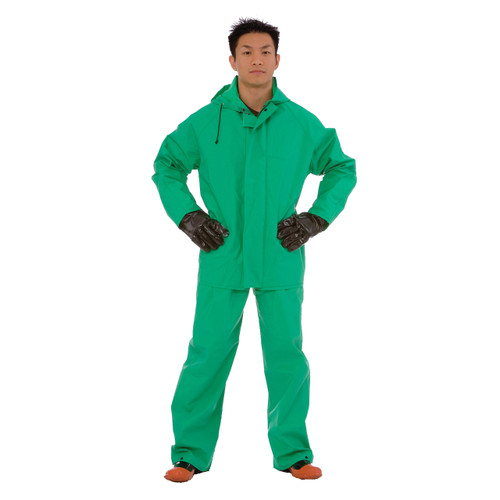 Cordova APEX FR 2-Piece Chemical Suit, .45mm Fabric, Green