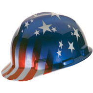 MSA V-Gard Freedom Series Hard Hat, Fast-Trac Ratchet Suspension