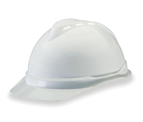 MSA V-Gard Advance Vented Hard Hat, 6-Point Fast-Trac Suspension, White