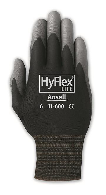 HyFlex Light-Duty Gloves, Cut Level 1, Black