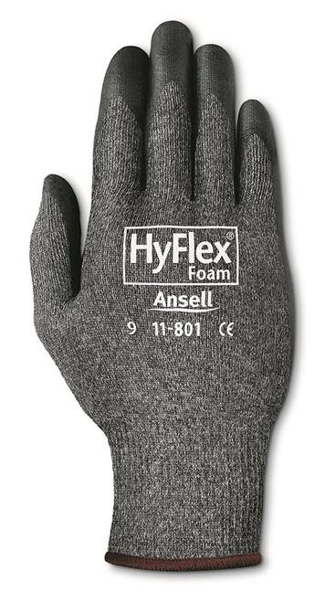 HyFlex Light-Duty Gloves, Foam Coated, Cut Level 1, Gray