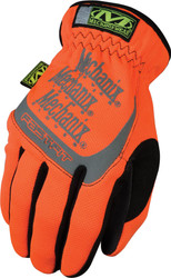 Mechanix Wear Safety FastFit HI-Viz Gloves, Orange