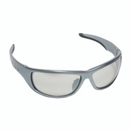 AGGRESSOR™ Safety Glasses, Silver Frame with Indoor/Outdoor Lens, TPR Nose & Temples