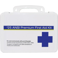 25 Person Premium Plastic First Aid Kit - 25 ANSI