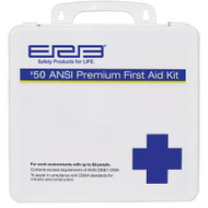 50 Person Premium Plastic First Aid Kit - 50 ANSI