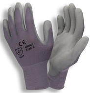Standard Gray PU Coated Gloves, 13-Gauge, Nylon Shell (Dozen)
