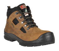 Toronto I/C EH PR Nubuck/Cofra-Tex Work Boot, Apt Plate/Overcap, Light Brown
