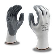Cor-Touch™ Coated Machine Knit Gloves, White/Gray, Dozen