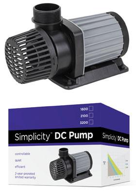 Simplicity dc water pump for aquariums