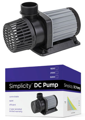 Simplicity dc water pump for aquariums