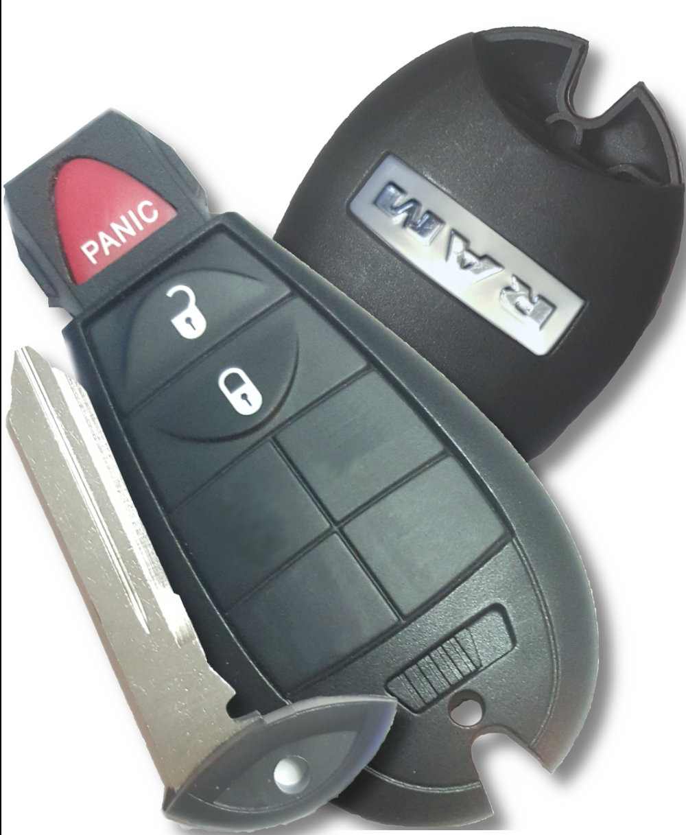 Car Keys Express Aftermarket Replacement OEM FOBIK for Chrysler//Dodge//Jeep with Remote Start 4 Button