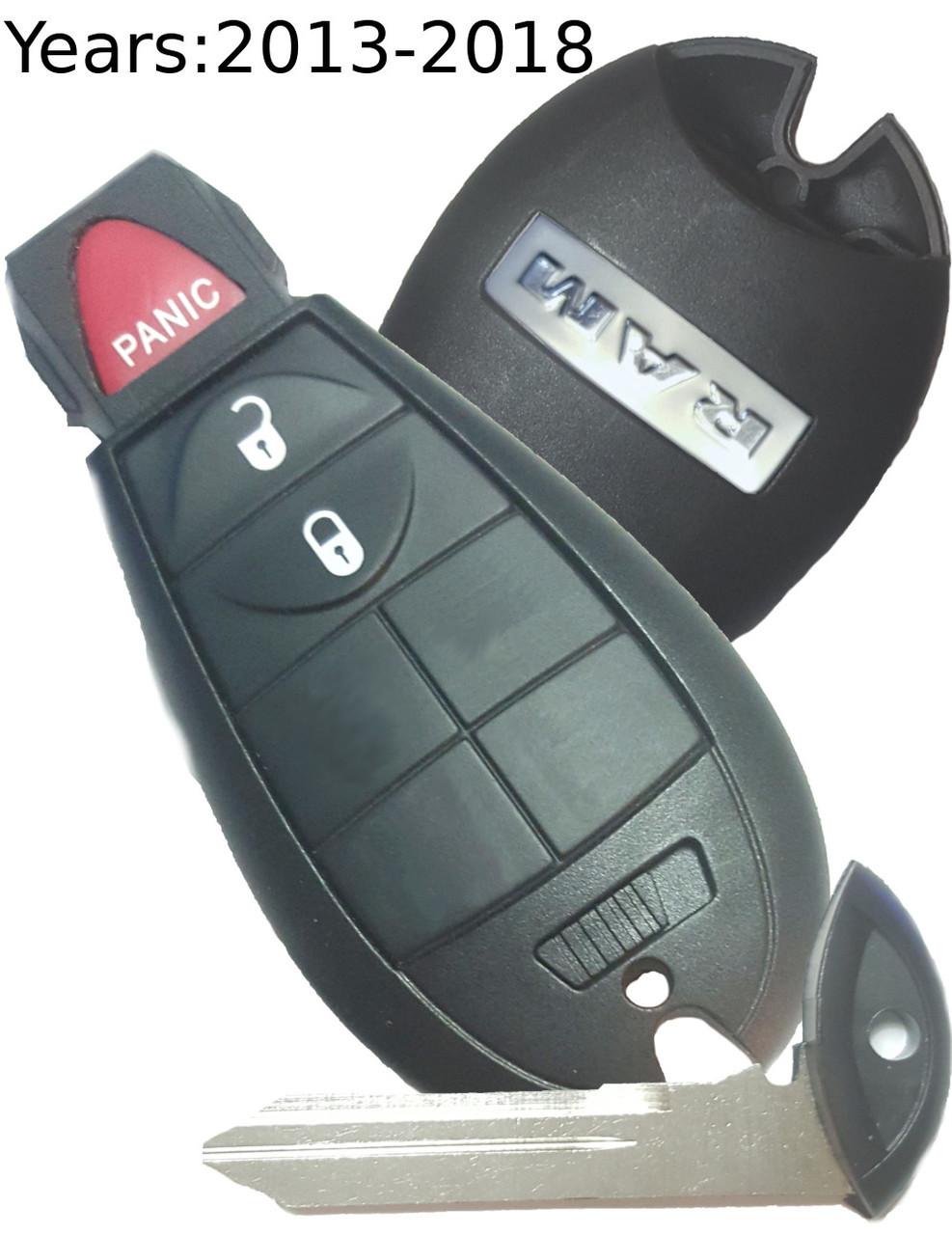 Dodge Ram 1500 2500 3500 4500 5500 Genuine OEM COMPLETE Key Fob Fobik  smartkey 2013-2017