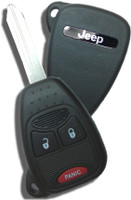 Jeep 3 button RemoteHead Key OEM  2005 2006 2007 2008 2009 2010 2011 2012 2013 2014 2015 2016 2017