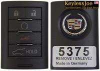 Cadillac SRX 5 button Fob fobik remote keyless key 2010 2011 2012 2013 2014