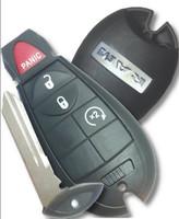 Ram 4 button COMPLETE fob Fobik Smart Key Dodge OEM W Remote Start 2009-12