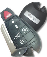 Jeep 6 button Fobik Smart fob Key trunk, remote start hatch 2008 2009 2010 2011 2012 2013